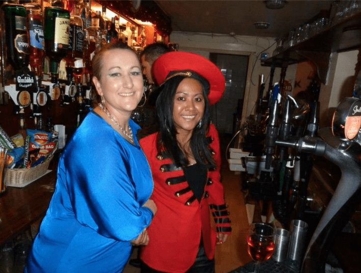 New Years Eve Fancy Dress Behind The Bar